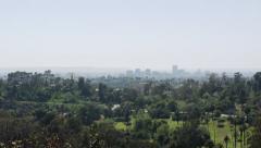 2.5K  Los Angeles Elysian Park Glendale Skyline Stock Footage