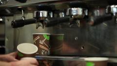 Takeaway coffee Stock Footage