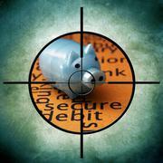 Secure debit target Stock Illustration