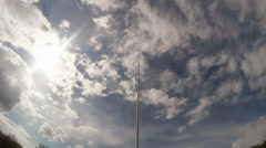 Flagpole without a flag against the sky Stock Footage