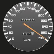 Top speed - speedometer illustration Stock Illustration