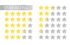 Star rating bars Stock Illustration