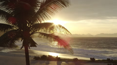 Ipanema panorama at sunset Stock Footage