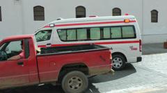Cuenca ambulance passing, Eucador Stock Footage