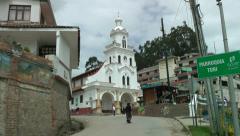 Church of Turi, Cuenca, Ecuador Stock Footage