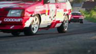 Stock Video Footage of Summer touring car championship takes place, asphalt race track