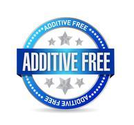 Additive free blue seal illustration design Stock Illustration