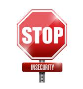 Stop insecurity sign illustration design Stock Illustration