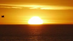 Sea Sunset Speedup - stock footage
