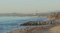 People Bathing in Carlsbad California Stock Footage