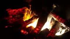 fire and glow - stock footage