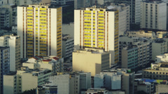 Afternoon pan of downtown Rio Stock Footage