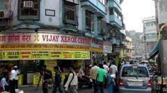 India Maharashtra District Mumbai 053 a busy street corner Stock Footage