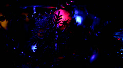Christmas Tree Lights Twinkling Seamless Loop - stock footage