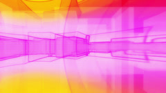 Retro Abstract Blocks Loop - stock footage
