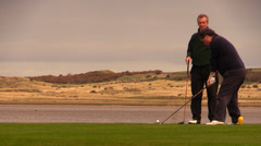 Golf over the sea Stock Footage