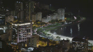 Stock Video Footage of Time-lapse shot of Avenida Das Nacoes Unidas in downtown Rio De Janeiro at night