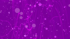 abstract loop motion background, purple light and stars - stock footage