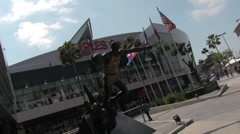 Staples Center Exterior Canted Stock Footage