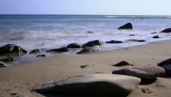 Beach Timelapse 03 Waves Ocean Tide Stock Footage