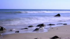 Beach Timelapse 04 Waves Ocean Tide - stock footage