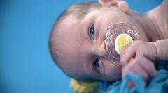 Baby's head shot sideways Stock Footage