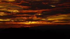 Dark Red Sunset Timelapse - stock footage