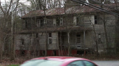 1287 Old Abandoned Spooky Houses - stock footage