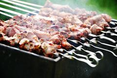 Meat slices Stock Photos
