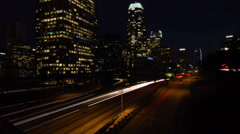 4k Ultra HD Tilt Shift Time Lapse of Night Traffic in Los Angeles - stock footage