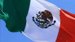 Mexican Flag 2 Stock Footage