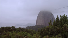Aerial footage of the Statue of Christ in Rio de Janeiro, Sugarloaf mountain, Stock Footage