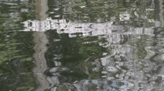 Reflections on water at Inokashira Park, Tokyo, Japan Stock Footage