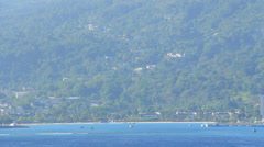 Ocho Rios Jamaica from a Ship 1 Stock Footage