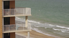 Florida Condominium Decks With Ocean View - stock footage