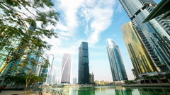 office relax place time lapse from dubai city - stock footage