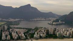Shot of shoreline and lagoon in Rio de Janerio. Stock Footage