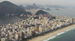 Aerial footage of lagoon and shoreline in Rio. Stock Footage