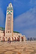 Hassan II sijaitsee kaupungissa Casablanca on suurin moskeija Marokossa Kuvituskuvat