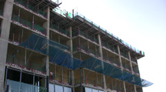 Tower block under construction Stock Footage