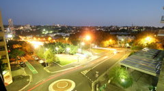 City Street #1 time-lapse sunset  1080p Stock Footage