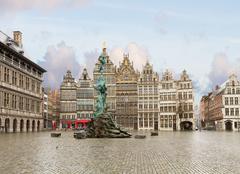 Grote Markt square, Antwerpen - stock photo