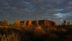 Ayers Rock Uluru  Australian Outback Morning Stock Footage