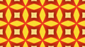Red and orange Kaleidoscope background, loop Footage