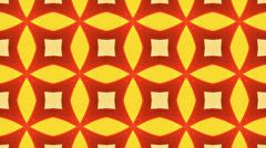 Red and orange Kaleidoscope background, loop Stock Footage