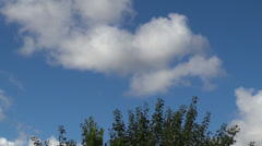HD1080 Time Lapse clouds in crisp blue sky - stock footage