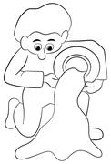 Stock Illustration of zodiac sign - aquarius