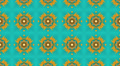 Blue and yellow tessellation background, loop Footage