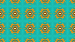 Blue and yellow tessellation background, loop - stock footage