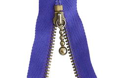 sewing zipper macro - stock photo